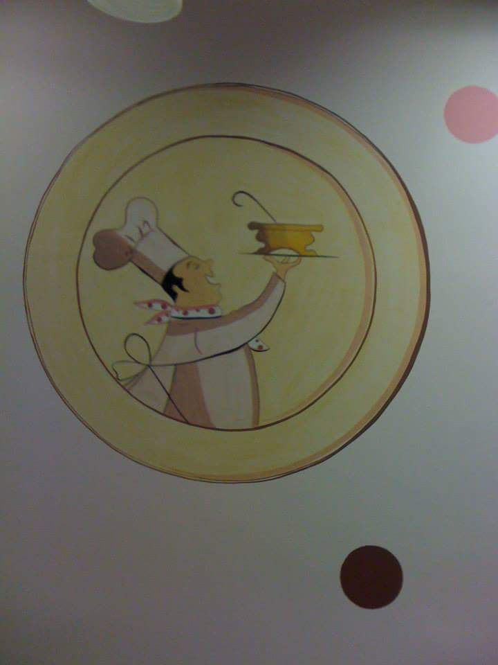 pictura murala restaurant 4people