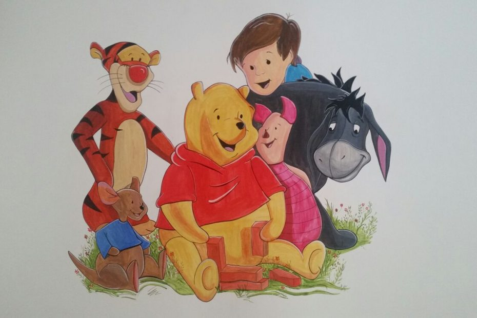 pictura murala winnie the pooh