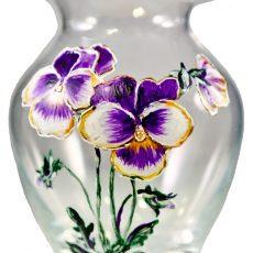 vaza handmade cu panselute
