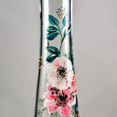 vaza pictata manual cu flori de primavara